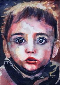 Blick, Portrait, Kind, Gesicht