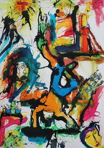 Farben, Expressionismus, Skurril, Abstrakt