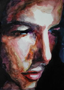 Mann, Farben, Blick, Ausdruck
