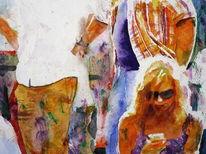 Aquarellmalerei, Frau, Menschen, Licht