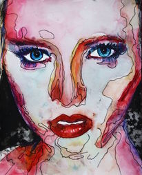 Augen, Frau, Ausdruck, Blick