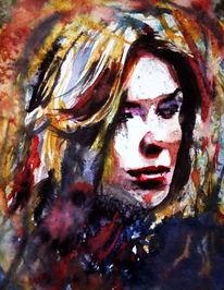 Ausdruck, Frau, Gesicht, Portrait