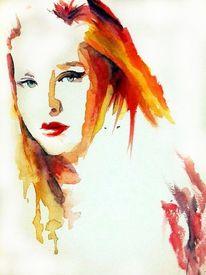 Haare, Frau, Blick, Farben