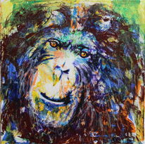Gesicht, Ausdruck, Affe, Farben