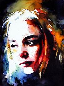 Gesicht, Farben, Blick, Portrait