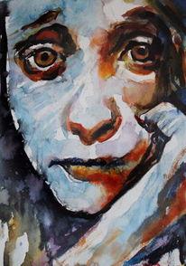 Ausdruck, Blick, Menschen, Augen
