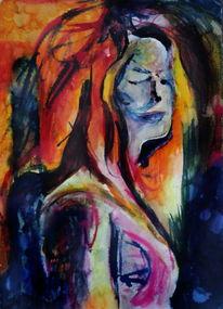 Ausdruck, Menschen, Frau, Farben