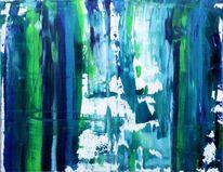Abstrakt, Haus, Blau, Realismus