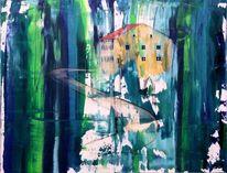 Heunischhof, Realismus haus, Malerei, Schritt