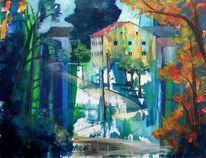 Blau, Heunischhof, Realismus, Haus