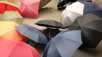 Regenschirme bunt, Fotografie