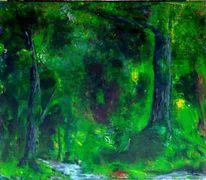 Wald grün baum, Malerei