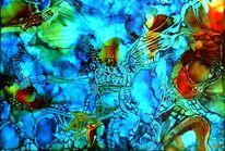 Blau, Kopf, Farben, Malerei