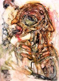 Menschen, Augen, Zunge, Zeichnungen