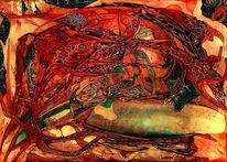 Schlange, Malerei