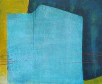 Türkis, Blau, Malerei, Malerei abstrakt 2013