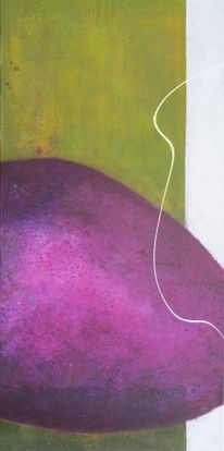 Violett, Grün, Malerei, Malerei abstrakt 2013