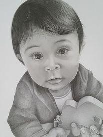 Kleinkind, Junge, Haare, Zeichnungen