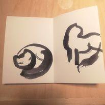 Katen, Tuschmalerei, Minimalismus, Illustrationen