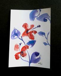 Leichtigkeit, Blumen, Zen, Rot