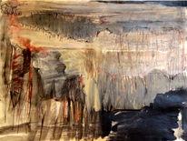 Berge, Abstrakt, Natur, Aquarellmalerei