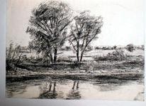 Donauufer, Flussufer, Zeichnungen