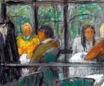 Menschen, Cafe, Malerei