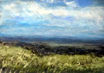Landschaft, Weite, Himmel, Malerei
