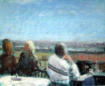 Donau, Menschen, Wein, Malerei