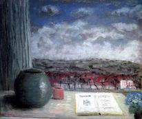 Wolken, Fenster, Himmel, Malerei