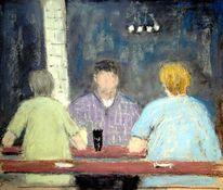 Gasthaus, Menschen, Malerei, Trio