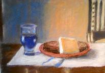 Wein, Brot, Käse, Tisch