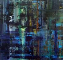 Violett, Bunt, Acrylmalerei, Richter