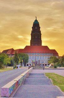 Skateboard, Himmel, Rathaus, Fotografie