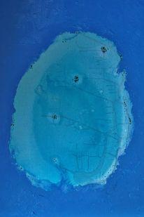 Korallen, Ozean, Insel, Malerei