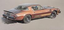 Auto, Vintage car, Camaro, Chevy