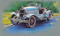 Oldtimer, Ford, Vintage car, Cabrio