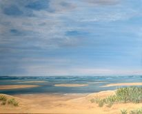 Natur, Sand, Urlaub, Acrylmalerei