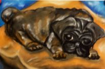 Hund, Mops, Malerei