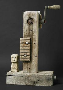 Skulptur, Assemblage, Käse, Objekt
