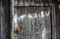 Graffiti, Holz, Auvergne, Tür
