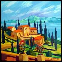 Gardasee, Malerei, Landschaften
