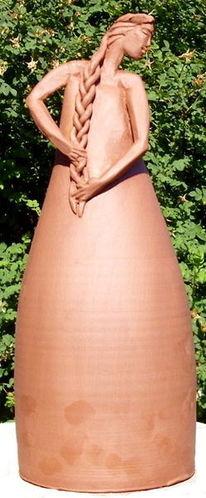 Skulptur, Ton, Keramik, Gartenfigur