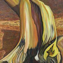 Baum, Natur, Stumpf, Gelb