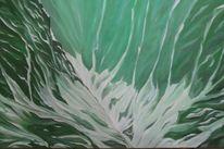 Ölmalerei, Bewegung, Schnee, Schlucht