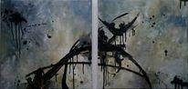 Acrylmalerei, Schwarz, Malerei