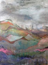 Durcheinander, Mischtechnik, Landschaft, Eisberg