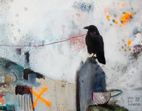 Tasse, Acrylmalerei, Mixedmedia, Kuscheltier