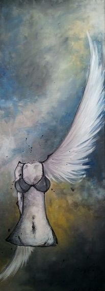 Akt, Flügelschlag, Abnorm, Weiß