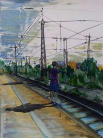 Naturgewalt, Frankfurt main, Ölmalerei, Gedanken